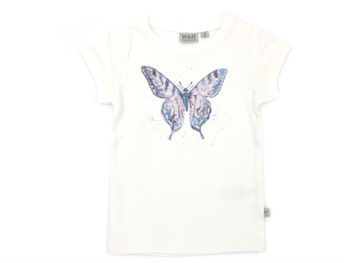 Wheat t-shirt watercolor butterfly ivory