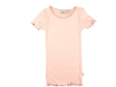 Wheat t-shirt rib misty rose with lace