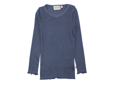Wheat t-shirt rib greyblue with lace