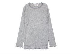 Wheat t-shirt rib melange gray with lace