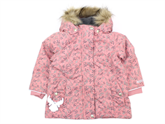 Wheat winter jacket Elice soft peach rose flower