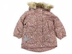 Wheat winter jacket Mathilde rose flowers