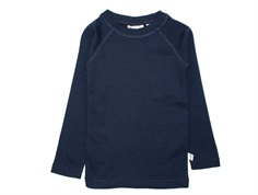 Wheat long-sleeved t-shirt/undershirt navy wool