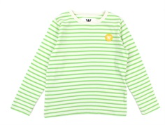 Wood Wood blouse Kim off-white/faded green stripes