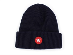 Wood Wood beanie Fox navy wool/polyamide