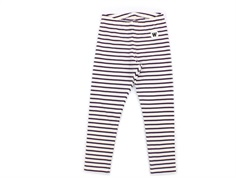 Wood Wood leggings Ira off-white/eggplant stripes