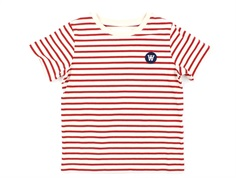 Wood Wood t-shirt Ola off-white/red stripes