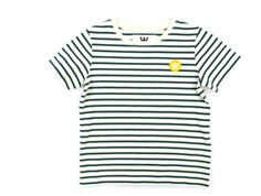 Wood Wood t-shirt Ola off-white/faded green stripes