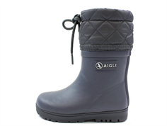 Aigle winter rubber boot Woody Warm charcoal