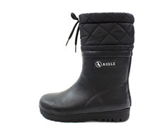 Aigle winter rubber boot Woody Warm noir