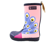 Aigle Woodypop rubber boot paon