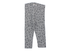 Wheat leggings gray melange wool penguins