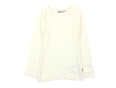 Wheat long-sleeved t-shirt/undershirt eggshell with lace pattern
