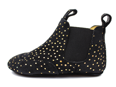 Angulus slippers suede black with gold dots
