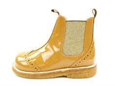 Angulus ancle boot ocher/gold lace pattern