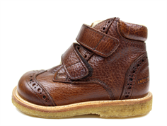Angulus boot redbrown with woollining
