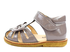 Angulus sandal light gray with bow and varnish