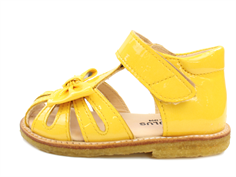 Angulus sandal yellow with bow and varnish