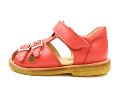 Angulus sandal red coral with buckles and velcro