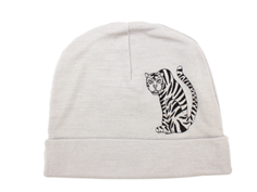 Mini Rodini beanie gray tiger wool