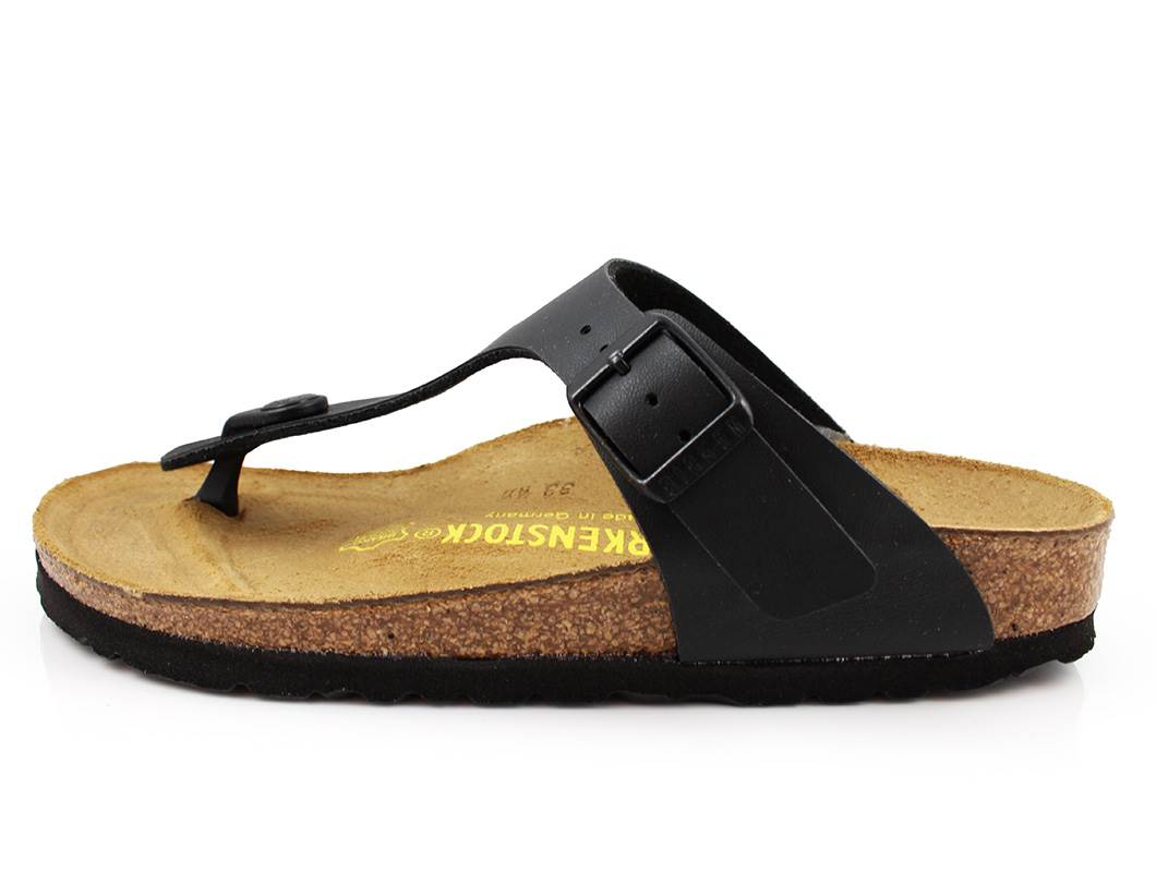 buy birkenstock gizeh sandal black with buckle at milkywalk. Black Bedroom Furniture Sets. Home Design Ideas