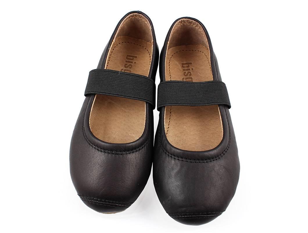 Buy Bisgaard ballerina black with elastic at MilkyWalk