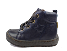Bisgaard winter toddler shoe blue zippered and TEX