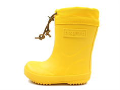 Bisgaard winter rubber boot yellow with woollining