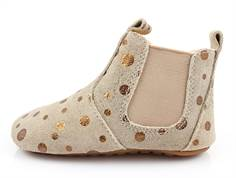 Pom Pom slippers beige/bronze dot