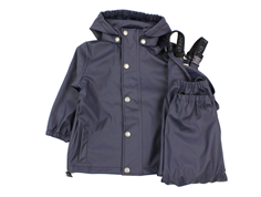 En Fant rainwear pants and jacket dark navy