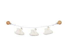 Cam Cam baby carriage chain swans off-white