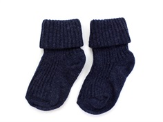 MP socks cotton dark denim melange blue (2-Pack)