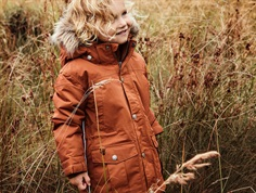 En Fant winter jacket leather brown