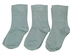 Minipop by Pom Pom Socks dusty green 3-pack