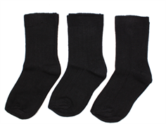 Minipop socks black 3-pack