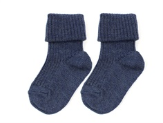 MP socks wool dark denim melange (2-Pack)