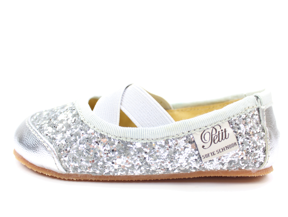 a58260bcb70 Petit by Sofie Schnoor ballerina silver with glitter