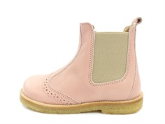 Pom Pom ancle boots rose with elastic and zipper