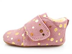 Pom Pom slippers rose/gold dot