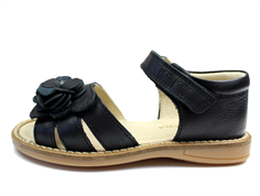 Pom Pom sandal black with flower