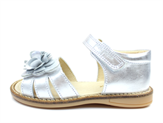 Pom Pom sandal silver with flower