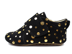 Pom Pom slippers black gold dot