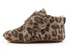 Pom Pom slippers brown leopard