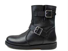 Angulus winter boots black with buckles and TEX