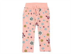 Small Rags sweatpants coral cloud flowers