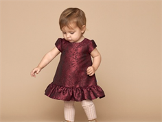 Wheat dress Hellen dark berry